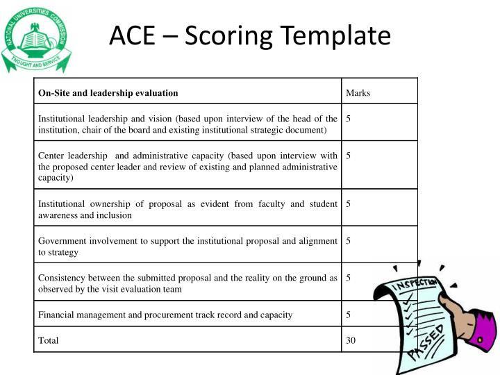 ACE – Scoring Template