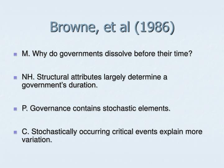 Browne, et al (1986)