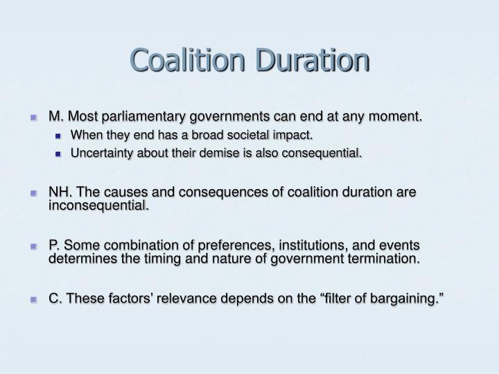 Coalition duration