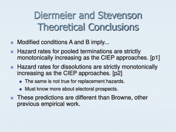 Diermeier and Stevenson