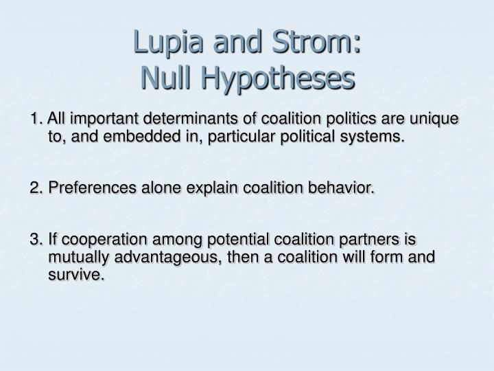 Lupia and Strom: