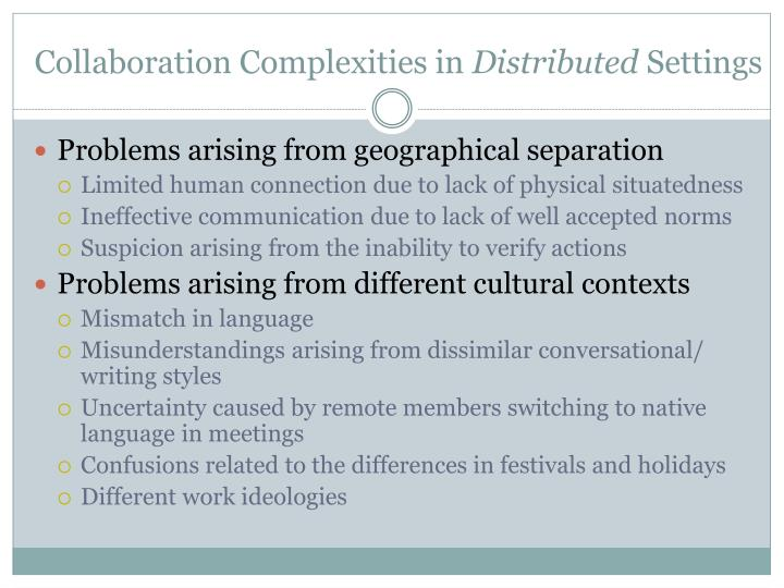 Collaboration Complexities in