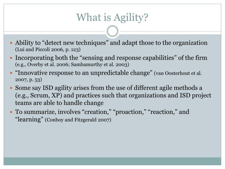 What is Agility?