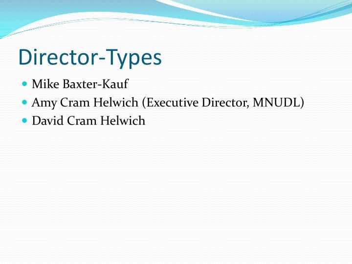 Director-Types