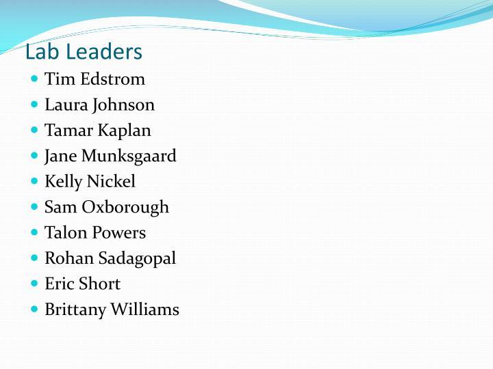 Lab Leaders