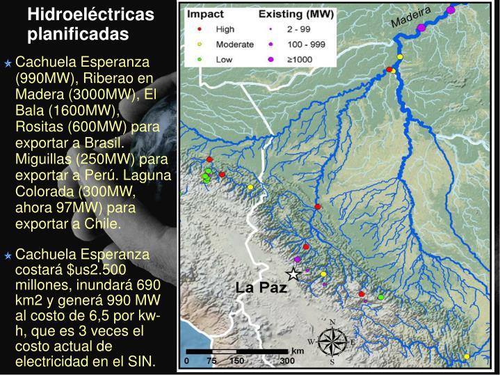 Hidroeléctricas planificadas