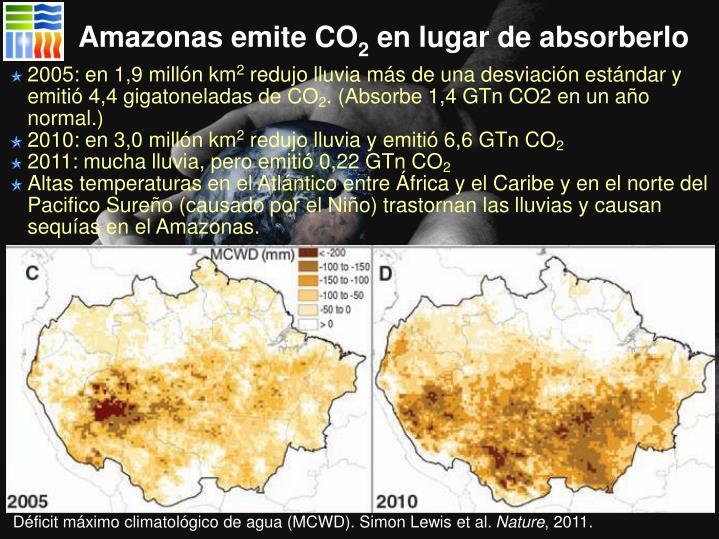 Amazonas emite CO