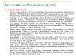representative publications cont