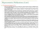 representative publications cont1