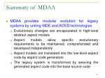 summary of mdaa