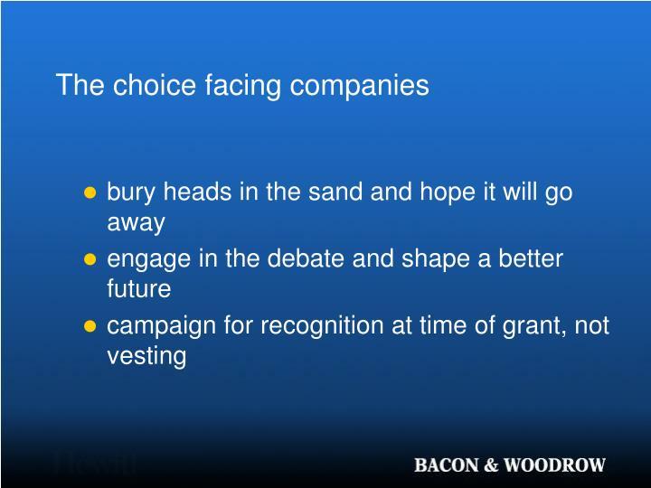 The choice facing companies
