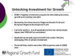 unlocking investment for growth1