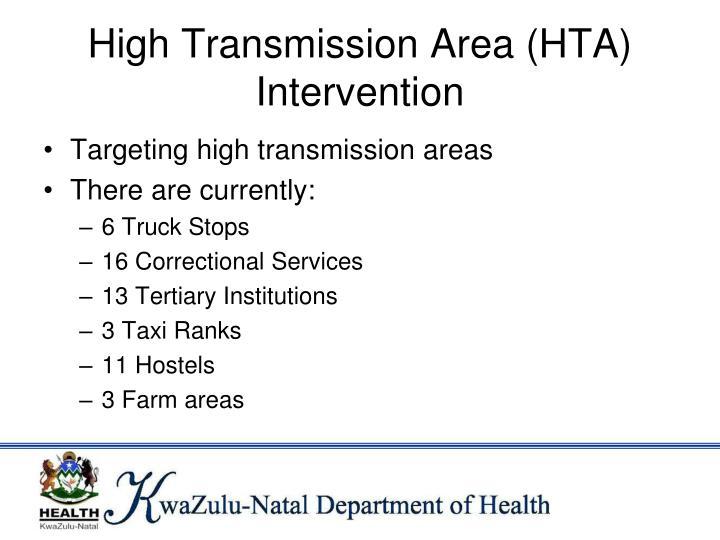 High Transmission Area (HTA) Intervention