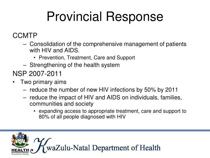 Provincial Response