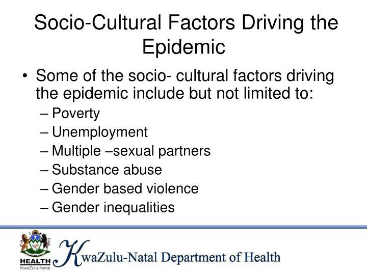 Socio-Cultural Factors Driving the Epidemic