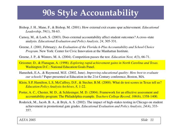90s Style Accountability