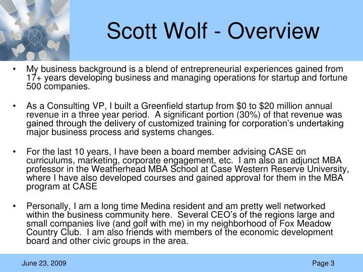 Scott wolf overview