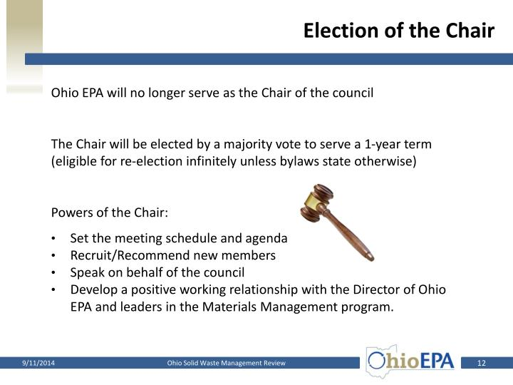 Election of the Chair