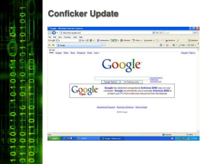 Conficker Update