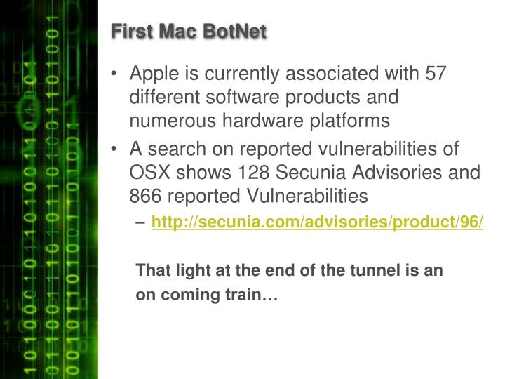 First Mac BotNet