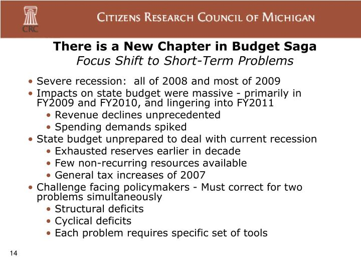 There is a New Chapter in Budget Saga
