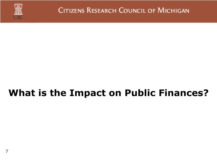 What is the Impact on Public Finances?