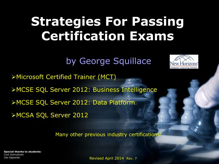 Strategies for passing certification exams