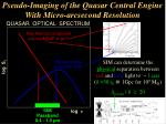 pseudo imaging of the quasar central engine with micro arcsecond resolution