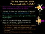 the key assertions of the theoretical mdaf model