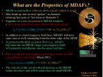 what are the properties of mdafs