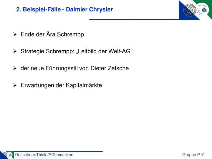 2. Beispiel-Fälle - Daimler Chrysler