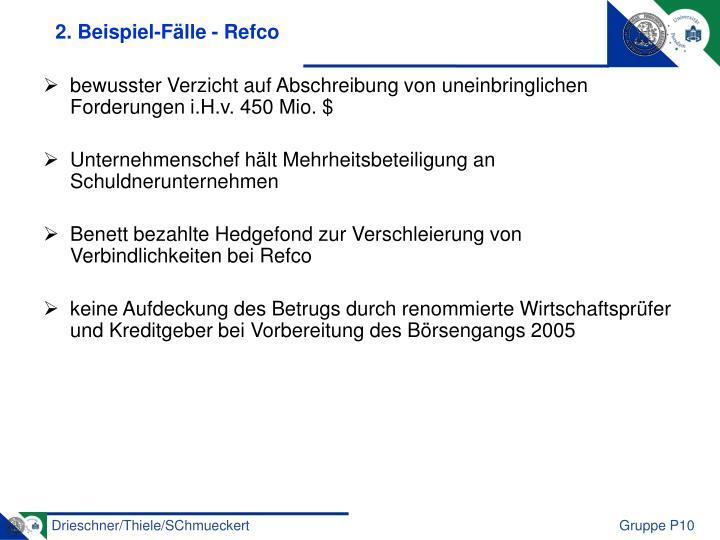 2. Beispiel-Fälle - Refco