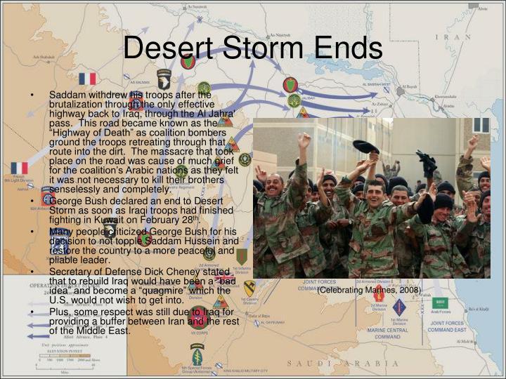 Desert Storm Ends