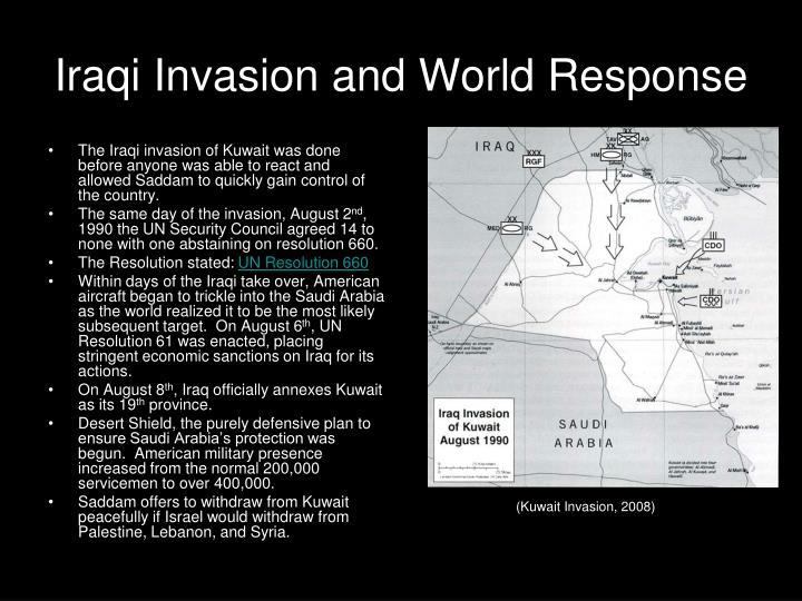 Iraqi Invasion and World Response