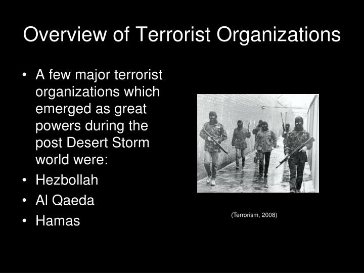 Overview of Terrorist Organizations