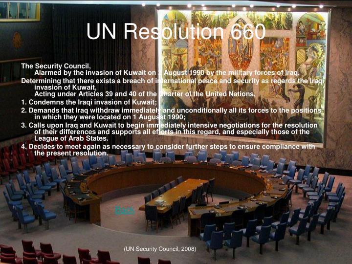 UN Resolution 660