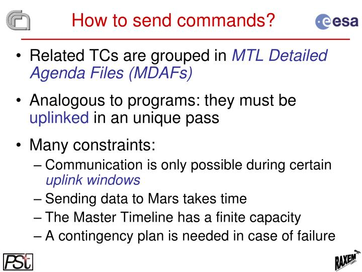 How to send commands?