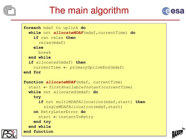 The main algorithm