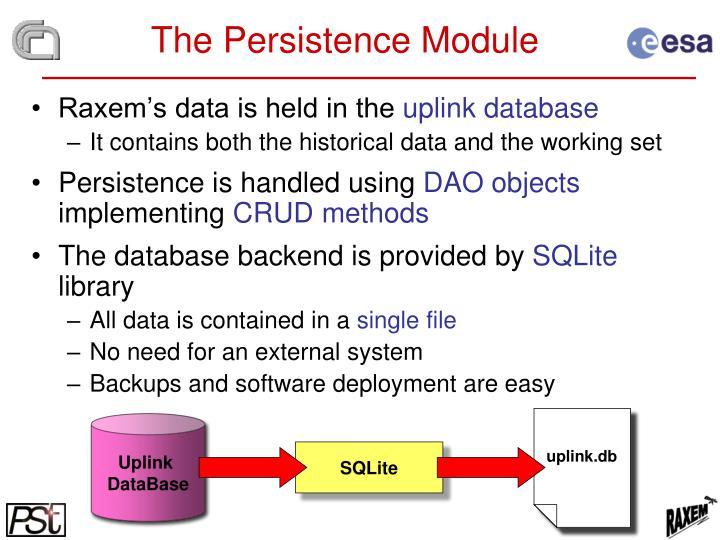 The Persistence Module
