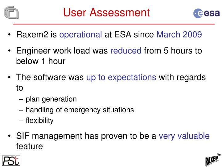 User Assessment