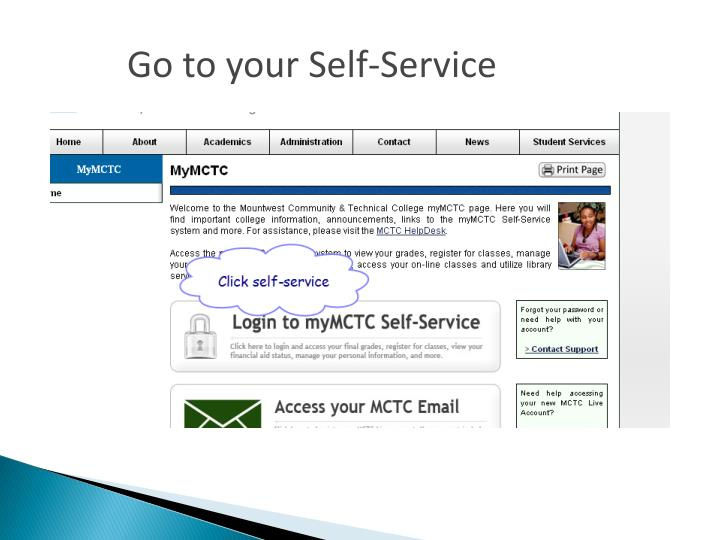 Go to your Self-Service
