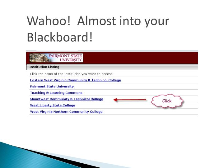 Wahoo!  Almost into your Blackboard!