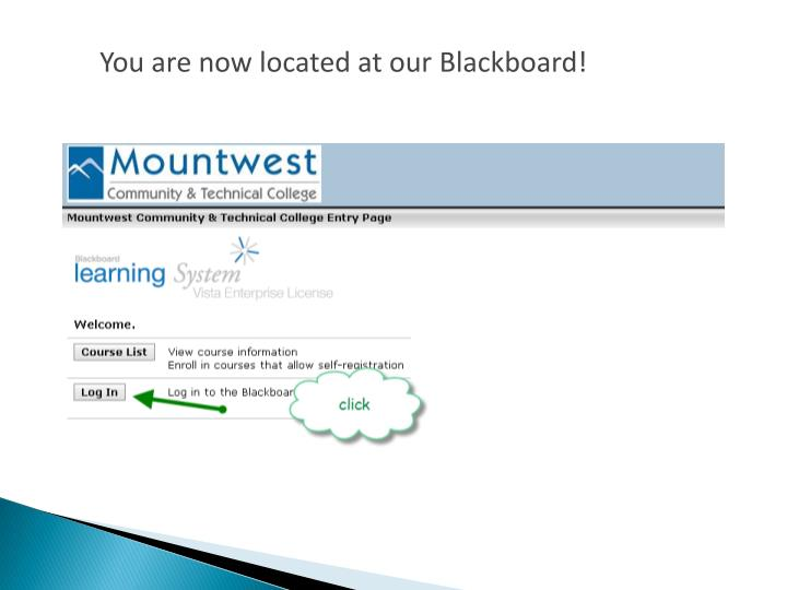 You are now located at our Blackboard!