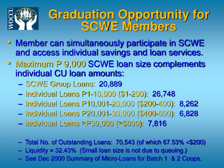 Graduation Opportunity for SCWE Members
