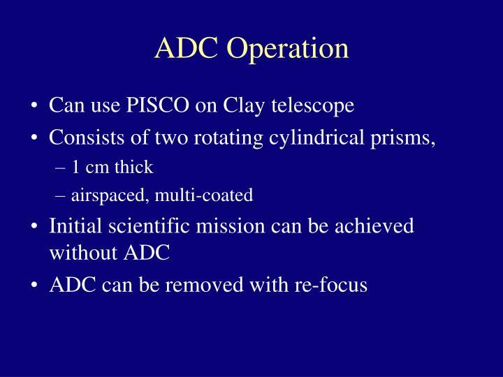 ADC Operation