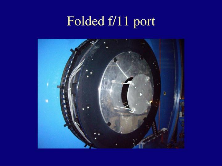 Folded f/11 port