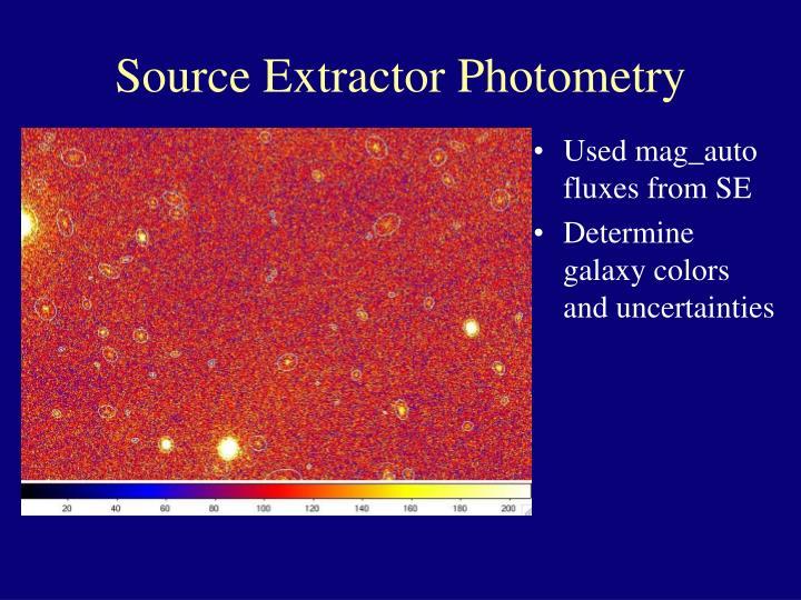Source Extractor Photometry