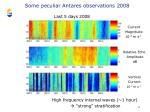 some peculiar antares observations 20082