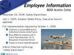 employee information noaa aviation safety