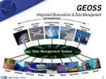 geoss integrated observations data management